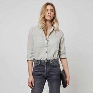 Topshop Gray button down shirt 2